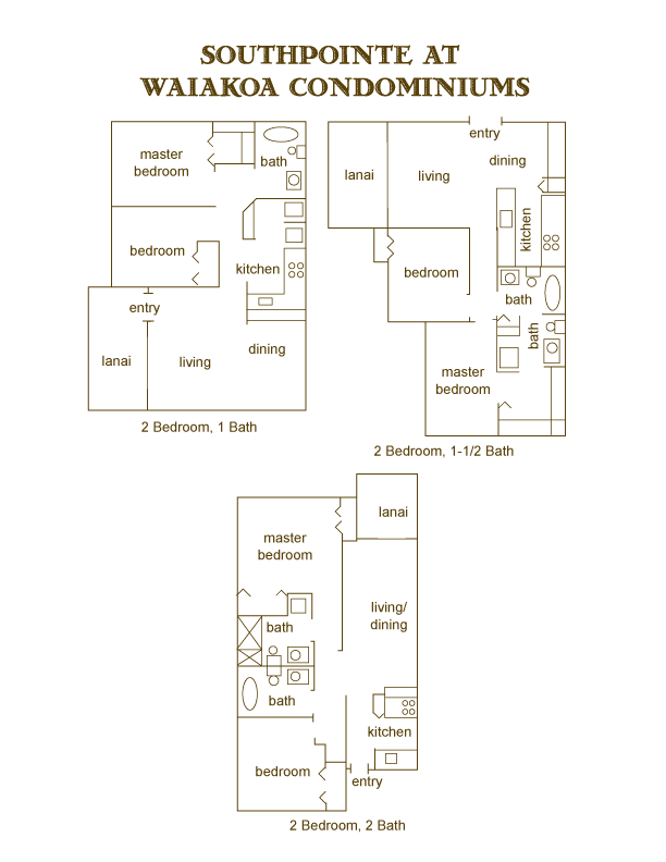 Floor Plans For Southpointe at Waiakoa